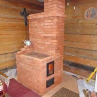 печь из кирпича для дома с варочной поверхностью фото