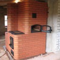 кирпичная печь с плиткой для готовки еды фото