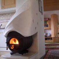 печь буран для дачи в интерьере фото