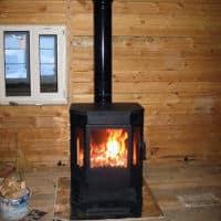 печь-камин Бавария с плиткой и теплообменником фото