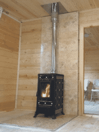 печь-камин в доме установка