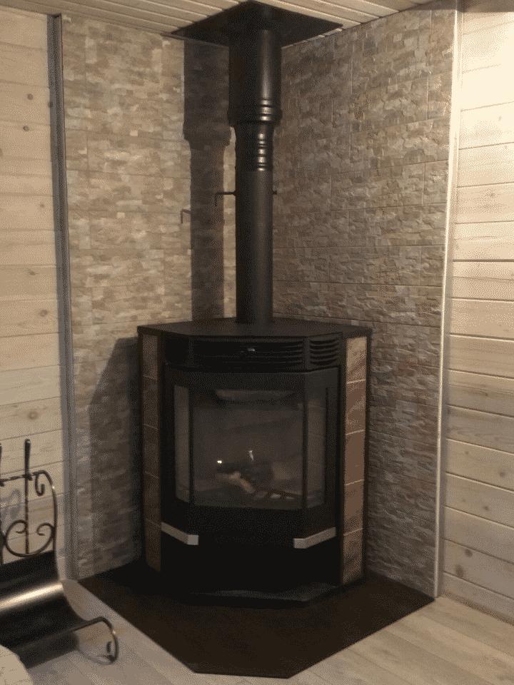 угловая Печь-камин Амур-12