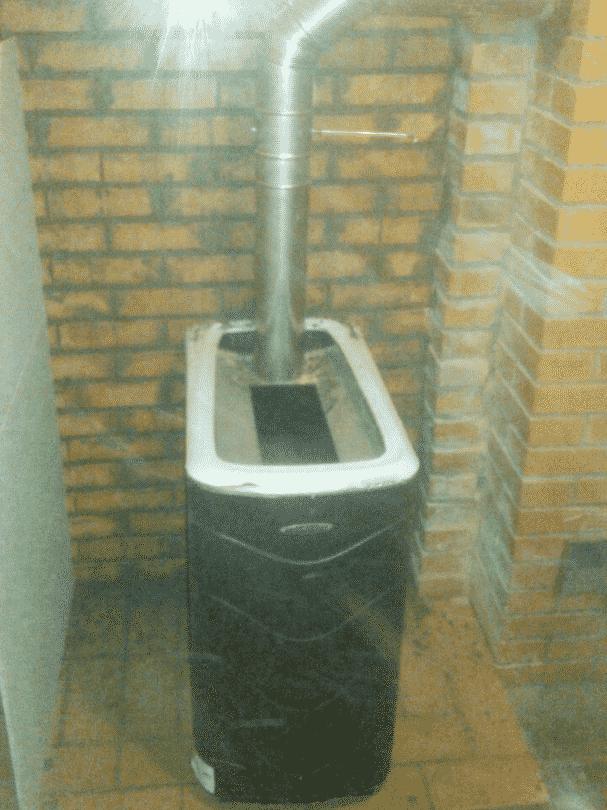 установка банной печи термофор в доме
