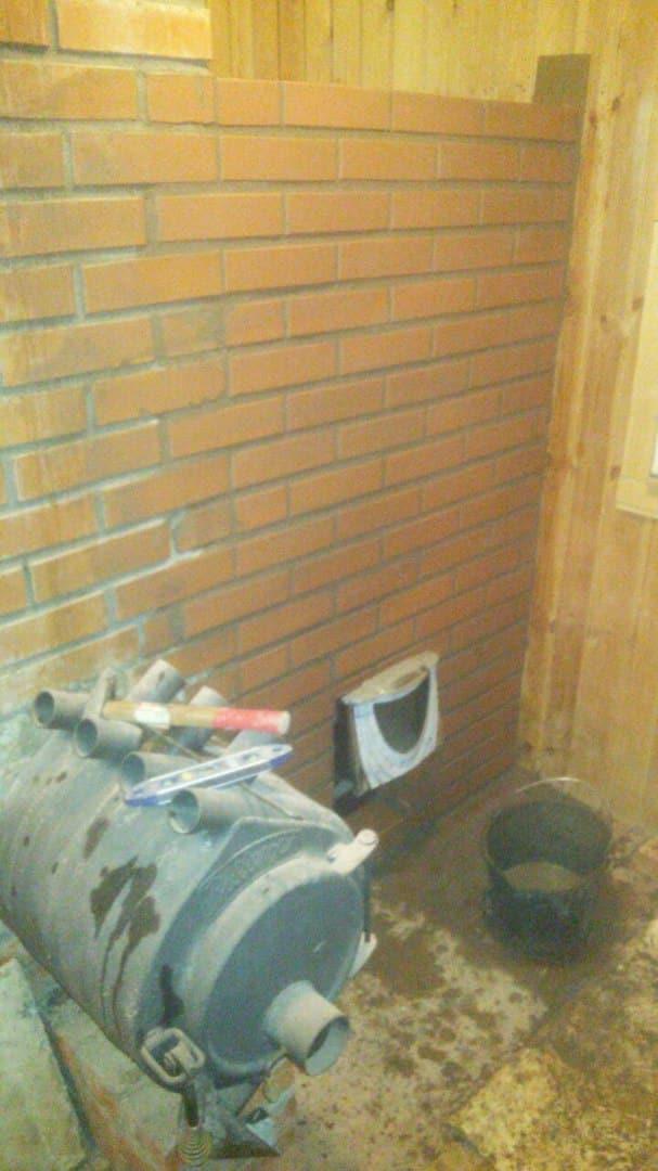 установка банной печи термофор