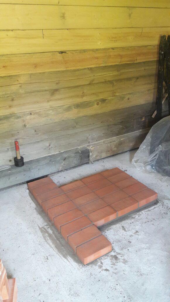 подготовка основания для установки печи термофор