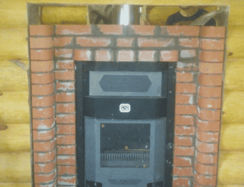 Установка банной печи и кладка портала