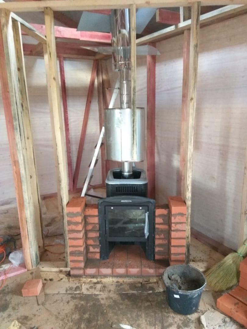 подготовка монтаж Банная печь Термофор