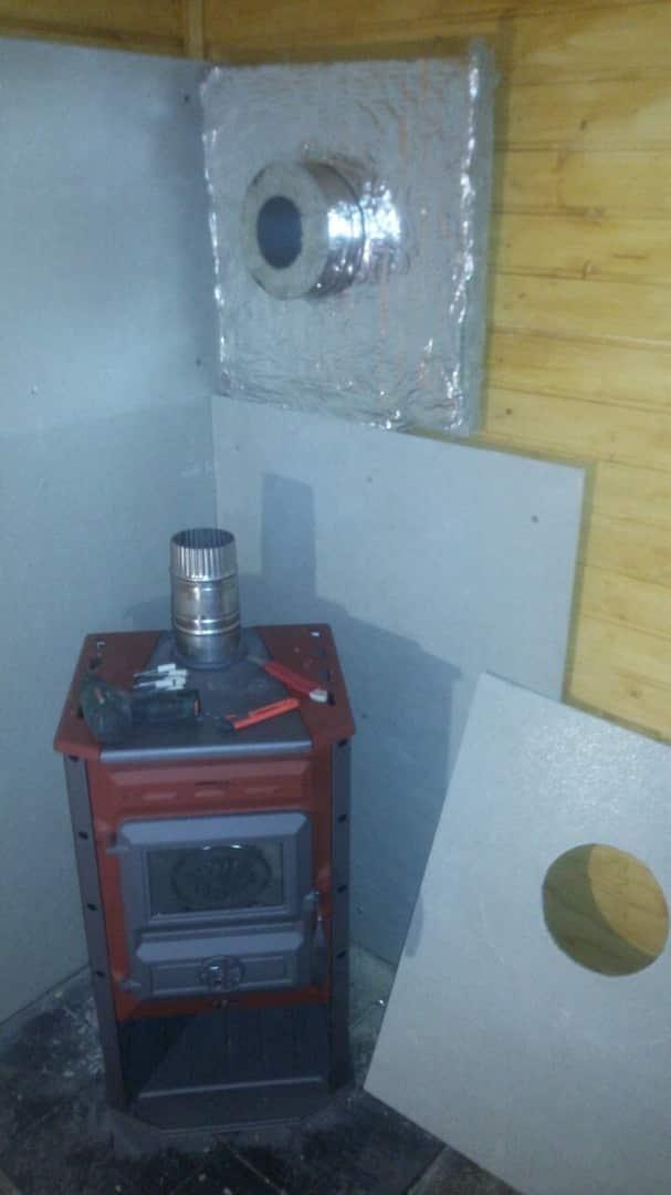 установка печи для загородного дома